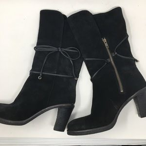 Johnston & Murphy Boots Black Suede size 9